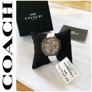 NWT Coach Delancey multi color face watch